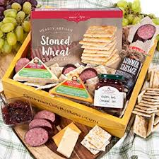 gourmetgiftbaskets holiday meat and cheese gift basket crate gourmet food gift baskets prime