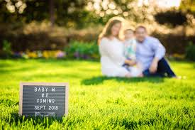 spring baby announcements pregnancy announcement photo session with lovely family