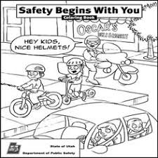 Small Picture Awesome Bike Safety Coloring Pages Coloring Page and Coloring