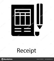 Paper Printed Blocks Chart Pencil Aside Symbolizing Receipt