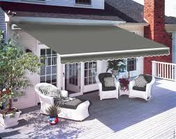 2 5 x 2m patio manual awning garden canopy sun shade retractable shelter grey