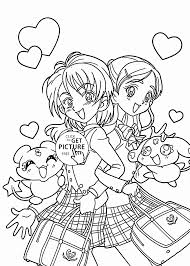 Funny Pretty Cure Anime Coloring Page For Kids Manga Anime Coloring