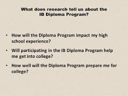 how will the diploma program impact my high school experience  how will the diploma program impact my high school experience