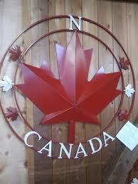 canada maple leaf metal wall art
