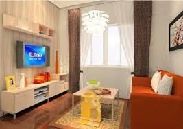Orange Couch Living Room Yellow Sofa Orange Walls 3d House