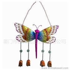 metal erfly wind chime with stained glass manufacturers and suppliers china whole makewell