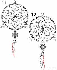 How To Draw A Dream Catcher How to Draw a Dreamcatcher Step by Step Cool100bKids 6