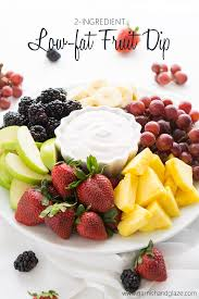 fruit dip made with cool whip lite and low fat yogurt