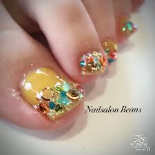 春夏フットラメワンカラー Beans926のネイルデザインno3058231