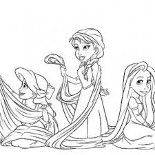 Small Picture Rapunzel And Elsa Coloring PagesAndPrintable Coloring Pages Free