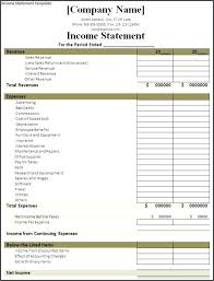 Profit And Loss Template Free Extraordinary Monthly Profit And Loss Statement Template Free Download Income