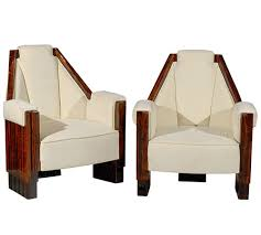 pair of art deco angular chairs j tribble art deco chairs
