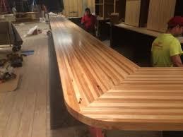 hickory bar top
