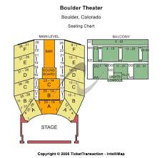 Boulder Theater Seating Chart Boulder Theater Tickets And Boulder Theater Seating Chart