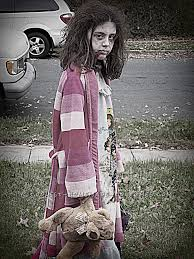 this is the second year in a row my daughter wanted to be a zombie last year was a zombie princess this year she wanted to be like the little girl from
