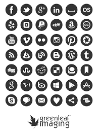 Social media icon set by Greenleaf Imaging, free download, clean, simple  and well