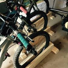 diy self supporting bicycle stand