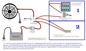 electric fan wiring diagram wiring diagram and hernes wiring diagram for aftermarket electric fan