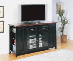 retro black oak wood tv stand with glass doors of tall tv stands for