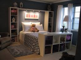 Storage furniture for small bedroom Kids Great Way To Organize Small Bedroom For The Kids Pinterest Bookshelves To Frame The Bed Bedroom Pinterest Bedroom