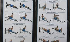Elliptical Trainer Printable Total Gym Exercise Chart Pdf