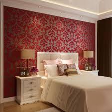 Pink Damask Wallpaper Bedroom Bedroom Lovely Damask Bedroom With Black Canopy Bed And Teal