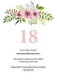 birthday invitations unique invitation of 18th party templates