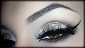 y arabic makeup gold glitter elegant cat eyeliner tutorial trucco natale 2016 you