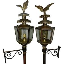 Carriage Lighting Canyon Country Antique Brass Coach Carriage Lantern With Eagle Antiques