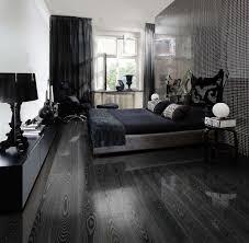 black wood flooring bedroom
