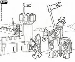 Kleurplaat Een Lego Middeleeuwse Adventure Kleurplaten