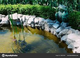 Artificial Pond Design Nice Little Artificial Pond Frog Fountain Edge Water Lilies