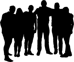 group of people clipart black and white. Unique People Clip Free Stock Group Silhouette At Getdrawings Com For Intended Of People Clipart Black And White I