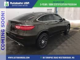 The benz's roofline is lower, the roofline falls more gracefully, and the glass sits far enough off the tail to create the illusion of a short decklid. Mercedes Glc Coupe 2017 Mercedes Benz Glc 300 Coupe 4matic Used The Parking