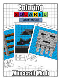Minecraft coloring book printable coloring pages shoot coloring book. Minecraft Color By Number Coloring Squared