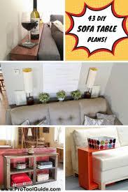 Diy sofa table Shelf Pro Tool Guide 43 Classy Diy Sofa Tables