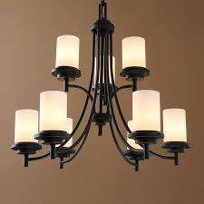 lighting ceiling lights chandeliers american country nordic iron paint light black chandelier glass chandelier two tiers adjule