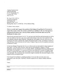 Sample Letter Opposing Zoning Variance Sample Business Letter