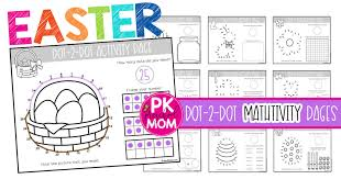 Easter Dot To Dot Preschool Worksheets Preschool Mom