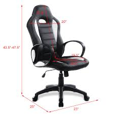 costway pu leather high back executive race car style bucket seat office desk chair white office chair white leather84 white