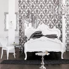 black white style modern bedroom silver. wonderful white black and white bedroom damask wallpaper chandelier white elaborate  carved bed modern inside style bedroom silver o