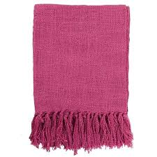 Fuschia Throw Blanket