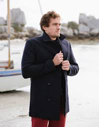 men s wool navy peacoat reefer jacket