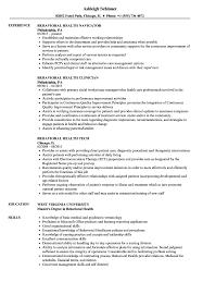 Behavioral Health Resume Samples Velvet Jobs
