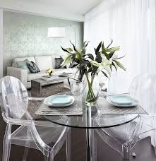 small apartment dining room furniture transparent table dining chairs