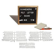 Sui Generis Felt Letter Board 10x10 With 300 Changeable Letters 2 Luminous Bobo Balloons Fine Oak Frame Ergo Stand Perfectly Lined Slots