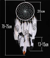 Big Dream Catcher For Sale New big size Circular Dream Catcher Feathers Wall Hanging white 51
