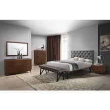 modern bedroom furniture. Unique Modern Modrest Gibson Modern Grey U0026 Walnut Bedroom Set And Furniture