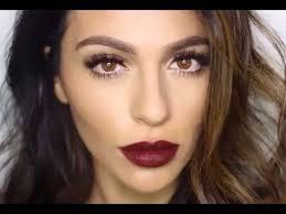 dark lipstick makeup tutorial