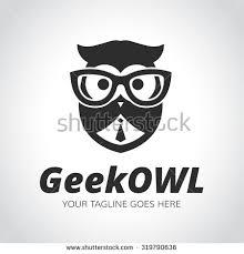 white owl logo. geek logo,owl,owl logo,learning,education,geek owl,vector white owl logo g